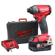 Milwaukee M18FID501X Milwaukee 18v Next Gen Fuel Impact Driver 2  x 5.0Ah Battery