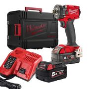 Milwaukee M18 FIW2F12 502X Milwaukee M18 FIW2F12 502X 18V 1/2'' Compact Impact Wrench, with 2 x 5Ah batteries, Charger and Case