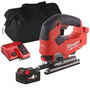 Milwaukee M18 FJS 18v M18 FUEL Jigaw with 1 x 4Ah Battery, Charger and Bag