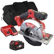 Milwaukee FMCS Milwaukee FMCS 18V M18 FUEL 150mm Metal Cutting Saw with 1 x 4Ah Battery, Charger and Bag