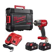 Milwaukee M18 FMTIW2F12-502X Milwaukee M18 FMTIW2F12-502X 18V 1/2'' Impact Wrench with 2 x 5ah Batteries, Charger and Case