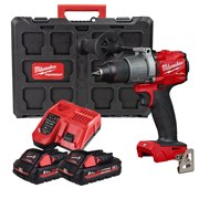 Milwaukee M18FPD2 Milwaukee M18 FPD2 Fuel Combi with 2 x 3Ah High Output batteries, Fast Charger and Packout Case