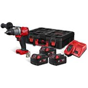Milwaukee M18FPD2-603P Milwaukee M18FPD2-603P M18 Fuel Combi Drill with 3 x 6Ah Batteries, Charger and Packout
