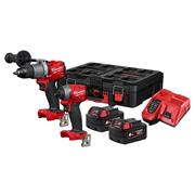 Milwaukee M18FPP2A2-602P Milwaukee M18FPP2A2-602P M18 Fuel Twinpack, with 2 x 6Ah Batteries, Charger and Case