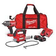 Milwaukee M18FPP2AI-502B Milwaukee M18FPP2AI-502B 18V Impact Wrench and Grease Gun with 2 x 5Ah Batteries, Charger and Bag
