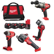 Milwaukee M18FPP4N524B Milwaukee 18v FUEL RED Li-ion Cordless 4 Piece Thunderbolt Kit