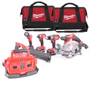 Milwaukee M18FPP5A-503B Milwaukee 18v FUEL RED Li-ion Brushless Cordless 5 Piece Kit