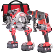 Milwaukee M18FPP5B-503B Milwaukee 18v FUEL RED Li-ion Brushless Cordless 5 Piece Kit