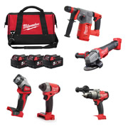 Milwaukee M18FPP5C-503B Milwaukee 18v FUEL RED Li-ion Brushless Cordless 5 Piece Kit