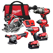 Milwaukee M18 FPP5H-502B Milwaukee 18v Li-ion Cordless 5 Piece Kit