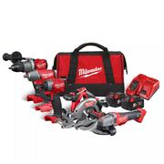 Milwaukee M18 FPP5M-502B Milwaukee 5 Piece Fuel Kit with 2 x 5Ah Batteries, Charger and Bag