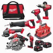 Milwaukee M18FPP6B503B 18v FUEL RED Li-ion Cordless 6 Piece Kit