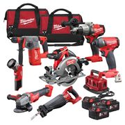Milwaukee M18FPP7B-503BPK Milwaukee 18v FUEL RED Li-ion Brushless Cordless 7 Piece Kit