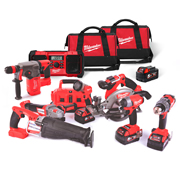Milwaukee M18FPP8B-504BPK Milwaukee 18v FUEL RED Li-ion Brushless Cordless 8 Piece Kit