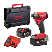 Milwaukee M18FQID-502X Milwaukee 18V FUEL Hydraulic Impact Driver with 2x 5Ah Batteries Charger and Case