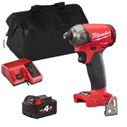 Milwaukee M18 FQID 18v M18 FUEL SURGE Hydraulic Impact Driver with 1 x 4Ah Battery, Charger and Bag