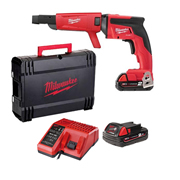 Milwaukee M18FSGC-202X M18 FUEL Drywall Screwgun with Collated Attachment (2 x 2.0Ah)