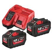 Milwaukee  Milwaukee M18 NRG 12Ah High Output Battery Pack with Fast Charger