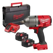 "Milwaukee 4933459728 M18 ONE-KEY Fuel 1/2"" High Torque Impact Wrench with Pin Indent"