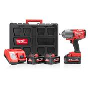 """Milwaukee M18ONEFHIWF12-553P Milwaukee M18ONEFHIWF12-553P M18 ONEKEY Fuel 1/2"""" Impact Wrench with 3 x 5.5Ah Batteries, Charger an"""