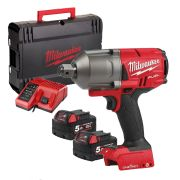 "Milwaukee 4933459731 M18 ONE-KEY Fuel 3/4"" High Torque Impact Wrench with Pin Indent"