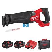 Milwaukee M18 ONEFSZ-552X Milwaukee 18v ONEKEY Sawzall, with 2 x 5.5Ah batteries, Charger and Case