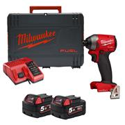 Milwaukee M18ONEID2-502X 18v M18 ONE-KEY Impact Driver with 2 x 5Ah Batteries, Charger and Case