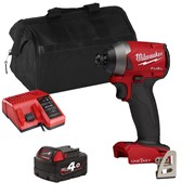 Milwaukee M18ONEID2XITS 18v M18 ONE-KEY Impact Driver with 1 x 4Ah Battery, Charger and Bag