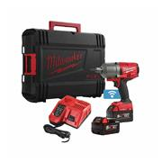 Milwaukee M18 ONE IWF12-502X 18v M18 ONE-KEY FUEL 1/2'' Impact Wrench with 2 x 5Ah Batteries, Charger and Case