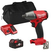 Milwaukee ONEIWP12ITS Milwaukee ONEIWP12ITS 18V M18 ONE-KEY Impact Wrench with 1 x 4Ah Battery, Charger and Bag