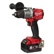 Milwaukee M18ONEPD2-502X Milwaukee M18 ONEPD2-502X 18V M18 ONE-KEY FUEL Combi Drill with 2 x 5Ah Batteries, Charger and Case