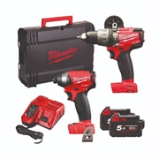 Milwaukee M18 PP2A-502X 18v Fuel ONE KEY 2 Piece Kit