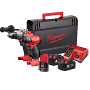 Milwaukee M18ONEPP2A523X M18 ONE-KEY Twin Pack + 12v battery