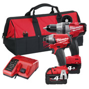 Milwaukee M18PP2A402CB Milwaukee Fuel 4.0Ah 18V Lithium-ion 2 Piece Kit