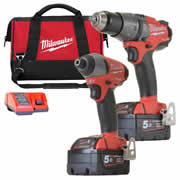Milwaukee M18 PP2A-502CB Milwaukee Fuel 5.0Ah 18V Lithium-ion 2 Piece Kit