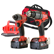 Milwaukee M18PP2A502MB 18v M18 FUEL 2 Piece Kit with 2 x 5Ah Batteries, Multi-Charger and Bag