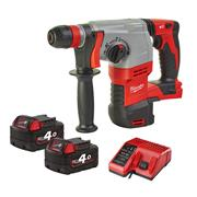 Milwaukee MHD18HX402C M18 HD18 HX 4-Mode SDS+ Drill (2 x 4.0Ah)