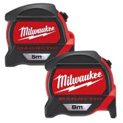 Milwaukee PREMET1 Milwaukee GEN2 5m & 8m Magnetic Tape Measure Pack (Metric Only)