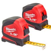 Milwaukee PROIMP1 Milwaukee 5m/16' & 8m/25' Pro Compact Tape Measures - Pack of 2