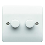 MK by Honeywell K1524WHILV MK by Honeywell 2 Gang 2-Way Dimmer 40-300w/240va & 4-70w LED
