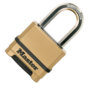 Master Lock MLKM1755EURDLF Masterlock 50mm Excell Chrome Combination Padlock, 38mm Shackle, 9mm Diameter