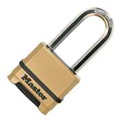 Master Lock MLKM1755EURDLH Masterlock 50mm Excell Chrome Combination Padlock, 51mm Shackle, 9mm Diameter