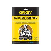 Oakey  Glass Paper Sandpaper Sheets Pack of 5 - Assorted