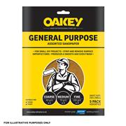 Oakey  Glasspaper Sand Paper Sheets 230 X 280mm Medium 80G - Pack Of 5