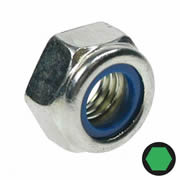 Owlett Jaton MB415 Bright Zinc Nyloc Nut M6 - Pack of 20