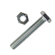 Unifix  Unifix M10 x 100mm HT Set Screw Nut & Washer - 2 Packs of 4