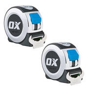 OX Tools P020905PK2 Professional Tape Measure 5m/16ft - Pack of 2