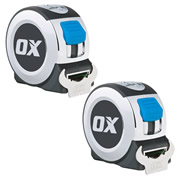 OX Tools P020908PK2 Professional Tape Measure 8m/26ft - Pack of 2