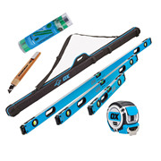 OX Tools OX-P028605 Pro Level Set 600, 1200 & 1800mm with 3 Pocket Zipped Case/5m Tape/Pencils