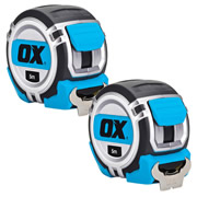 OX Tools P028905PK2 OX Professional Heavy Duty Tape Measure 5m MetricTwinpack